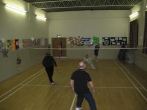 Badminton_ court action